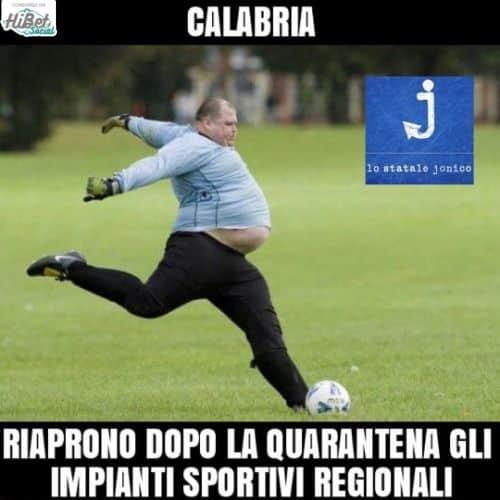 Impianti sportivi riaperti in Calabria