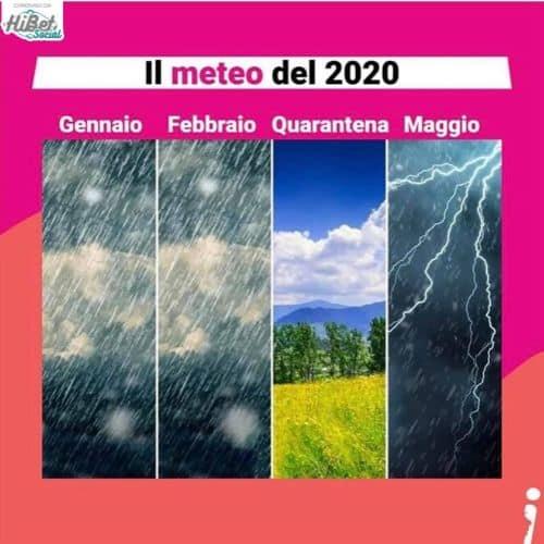 meteo maggio 2020