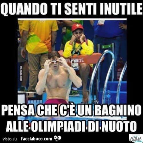 bagnino alle olimpiadi di nuoto