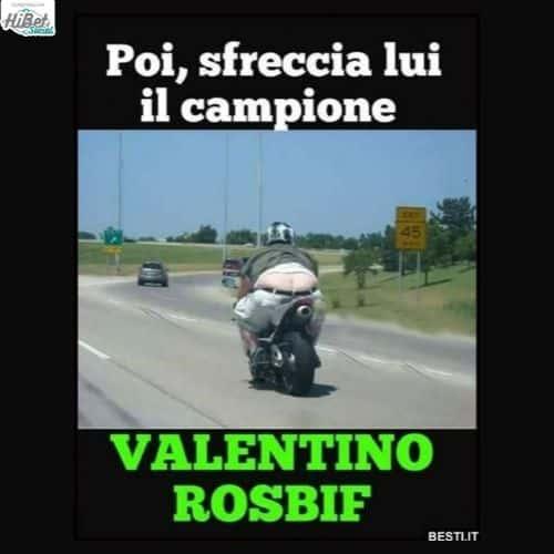 il campione Rossi
