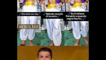 Cristiano Ronaldo diventa Aladin