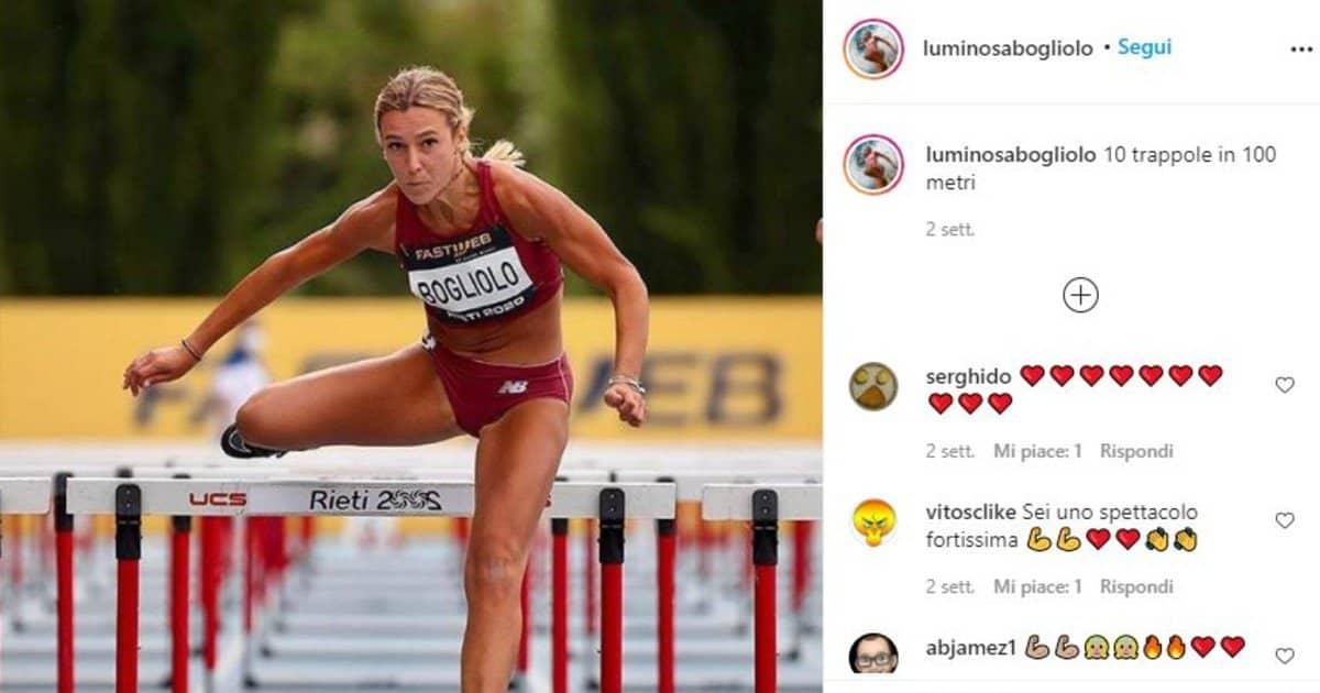 atleta italiana - luminosa bogliolo