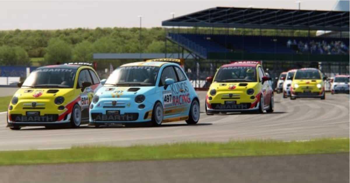 Assetto Corsa, 'Abarth Virtual Racing League': spettacolo in Gara 6 a Silverstone