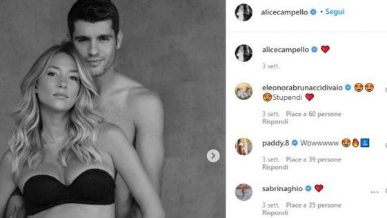 Alice Campello avrà un altro figlio da Alvaro Morata?