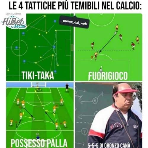Il 5-5-5 di Oronzo Canà che spiega la bi-zona in L'allenatore nel pallone