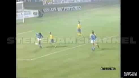 I gol di Maradona durante Modena-Napoli in Coppa Italia.