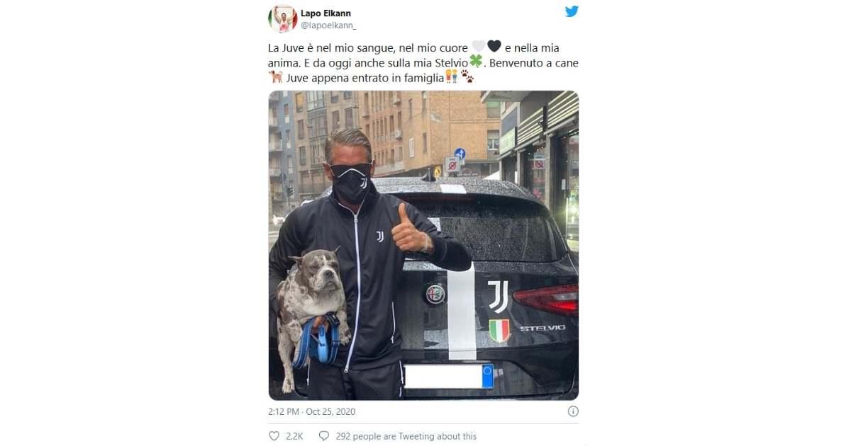 Lapo Elkann: automobile e cane rigorosamente juventini