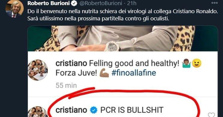 """Cristiano Ronaldo: """"Los PCR son una mierda"""""""