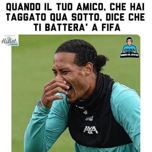 Meme: quando un amico dice di batterti a Fifa