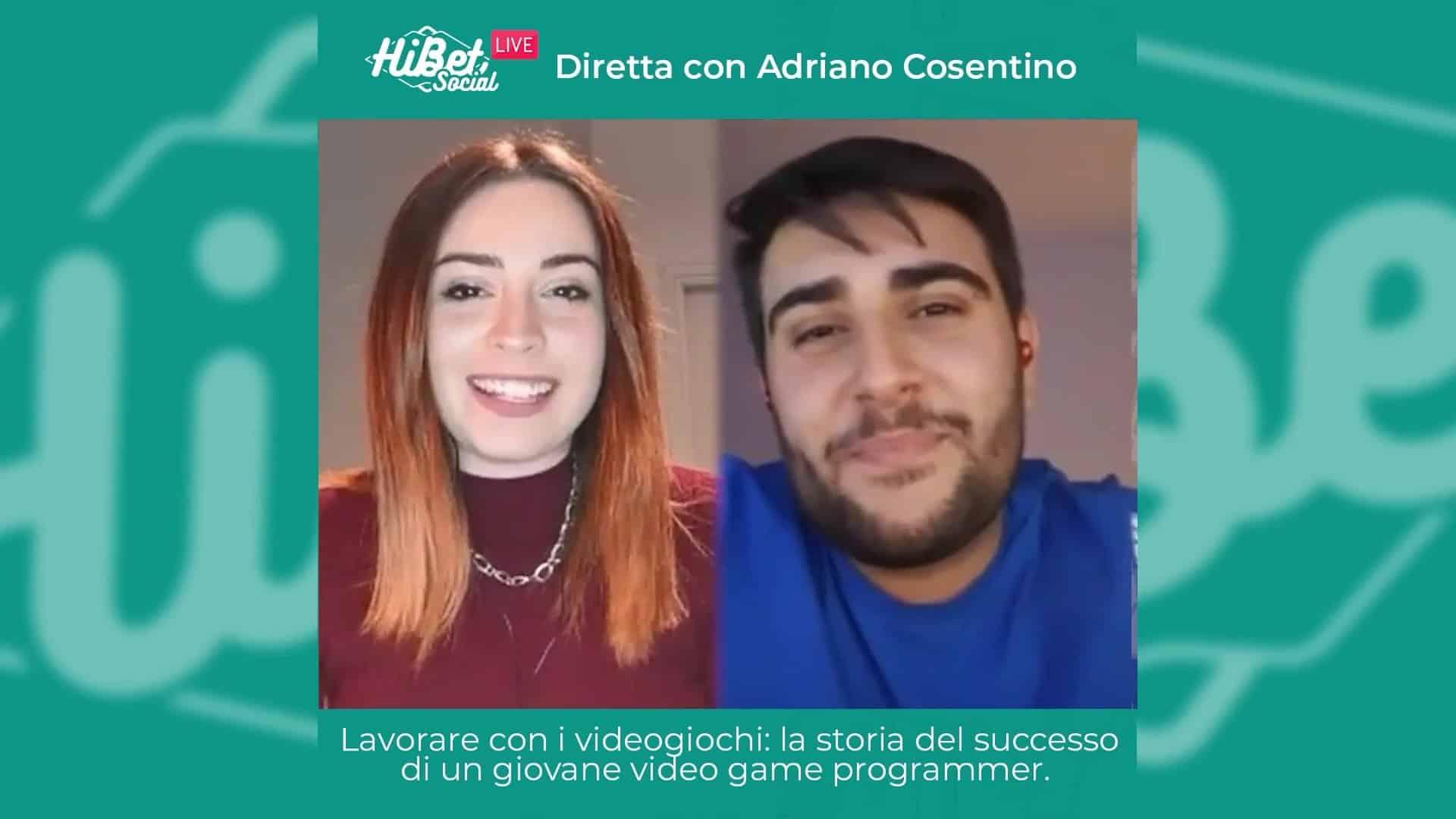 La nostra diretta con Adriano Cosentino, appassionato di videogiochi e video programmer
