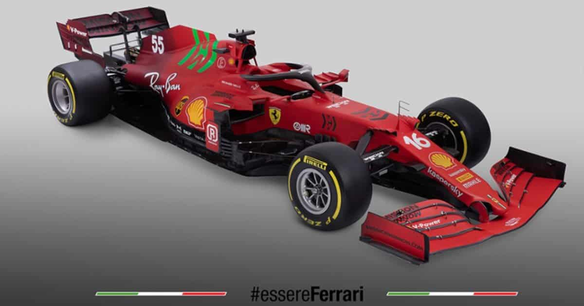 Un po' di verde speranza nel nuovo rosso Ferrari: presentata la nuova F1 2021
