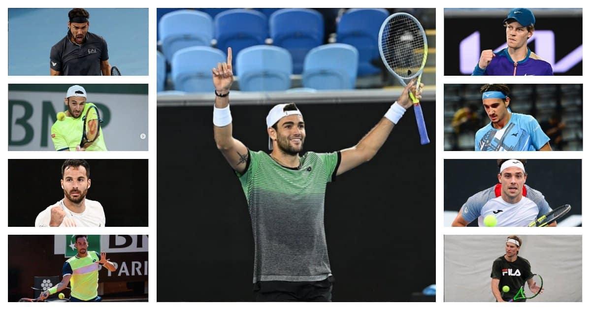 Nuovo record per il tennis italiano: 9 giocatori nella top100 ATP!