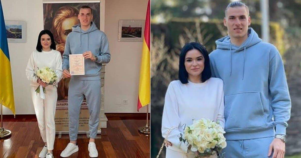 Il matrimonio bizzarro di Lunin: all'altare in tuta e scarpe da ginnastica