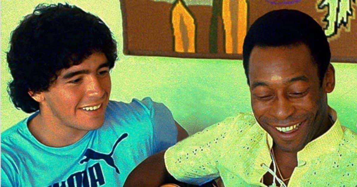Pelè ricorda i bei tempi e l'amico Maradona.