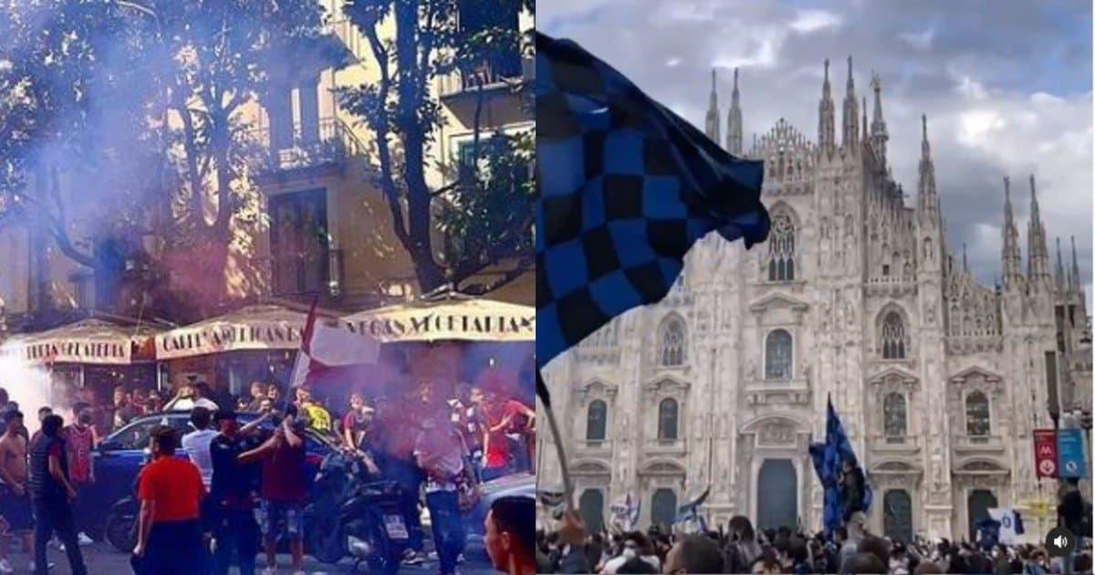 Festa scudetto Inter, festa serie A Salernitana