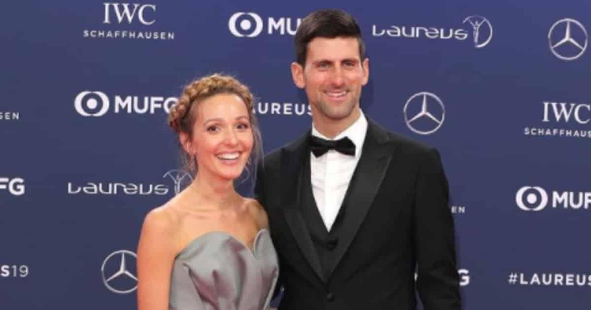 Novak Djokovic Jelena Ristic, Roland Garros share hibet social