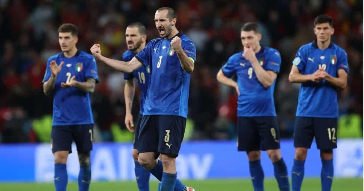 """Chiellini e il """"Kiricocho"""": la paura scende in campo durante la finale di Euro2020."""