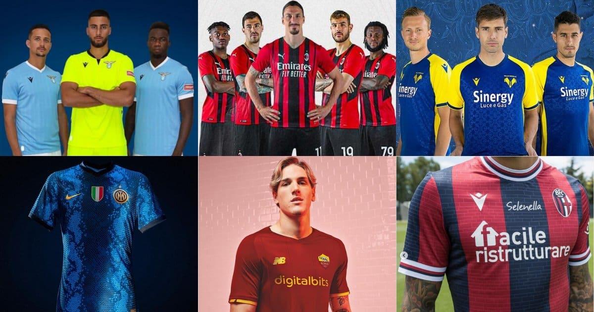 Le nuove maglie delle squadre di Serie A!