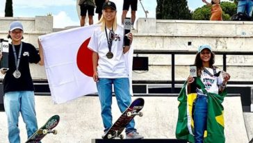 podio olimpico Skateboard share hibet social