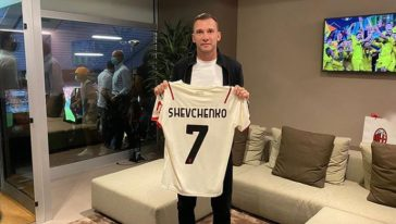 Shevchenko Milan Champions share hibet social