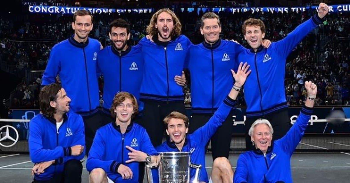 laver cup Berrettini Team Europa share hibet social