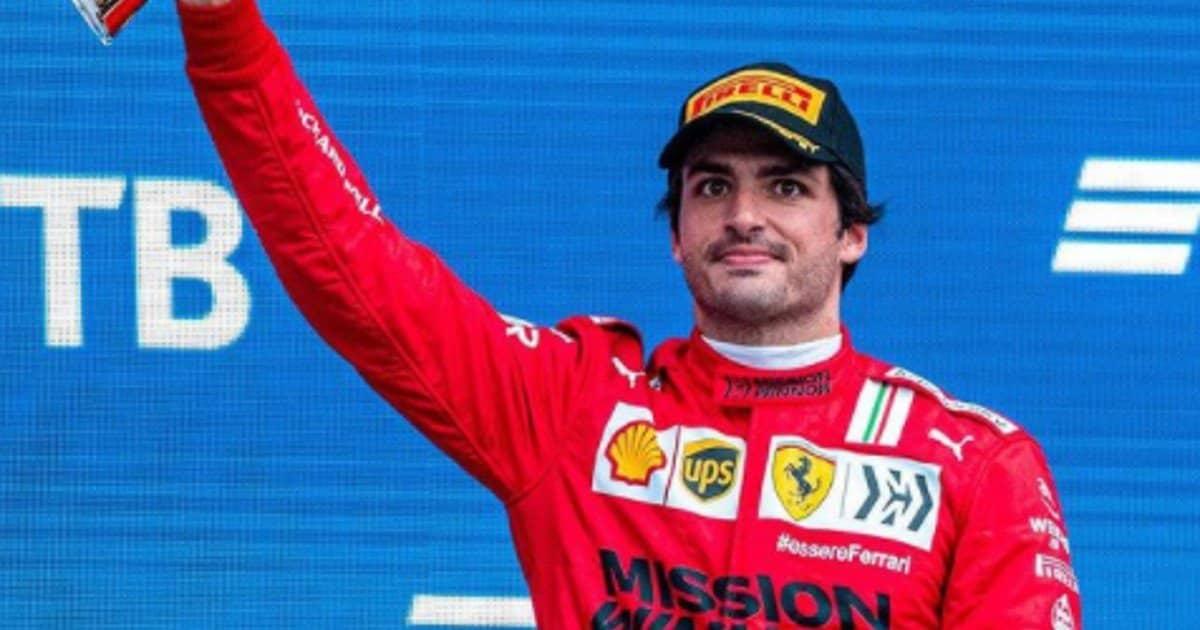"""Sainz felice per il podio: """"Con la pioggia ho potuto fare il pit stop"""""""