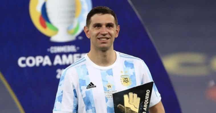 emiliano martinez Copa America share hibet social